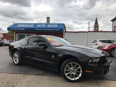2011 Ford Mustang for sale at Gonzalez Auto Sales in Joliet IL