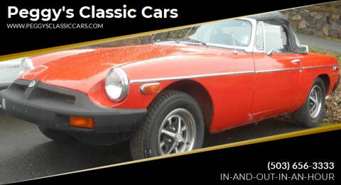 1977 MG MGB for sale at Peggy's Classic Cars in Oregon City OR