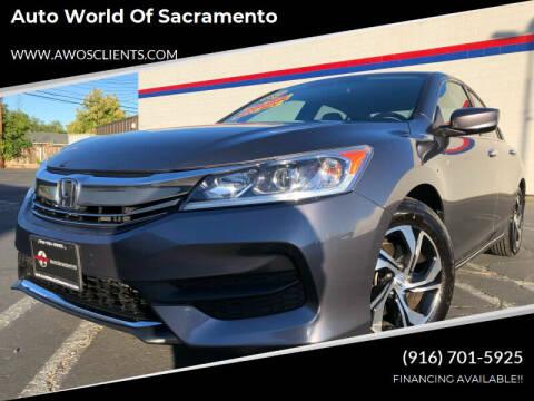 2016 Honda Accord for sale at Auto World of Sacramento Stockton Blvd in Sacramento CA