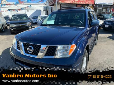 2007 Nissan Pathfinder for sale at Vanbro Motors Inc in Staten Island NY