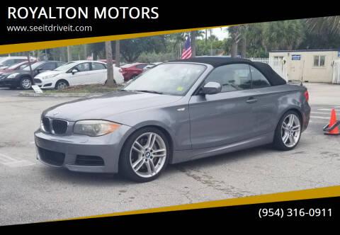 2013 BMW 1 Series for sale at ROYALTON MOTORS in Plantation FL