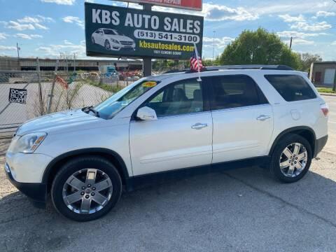 2010 GMC Acadia for sale at KBS Auto Sales in Cincinnati OH