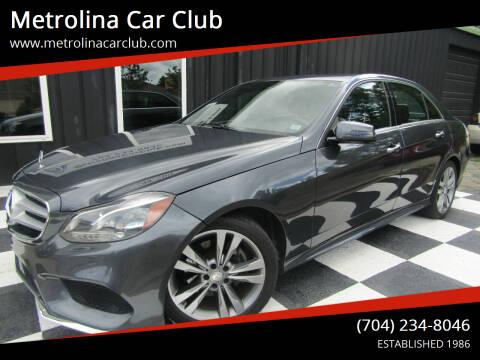 2014 Mercedes-Benz E-Class for sale at Metrolina Car Club in Matthews NC