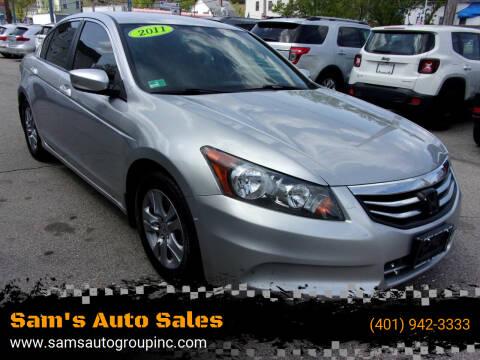 2011 Honda Accord for sale at Sam's Auto Sales in Cranston RI