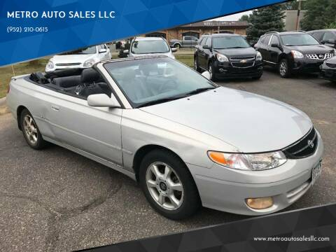 2000 Toyota Camry Solara for sale at METRO AUTO SALES LLC in Blaine MN