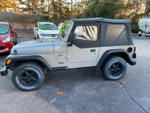 2000 Jeep Wrangler for sale at TOP OF THE LINE AUTO SALES in Fayetteville NC