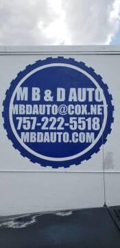 2001 Honda Accord for sale at M B & D AUTO in Virginia Beach VA