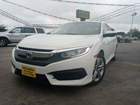2016 Honda Civic for sale at Pasadena Auto Planet in Houston TX