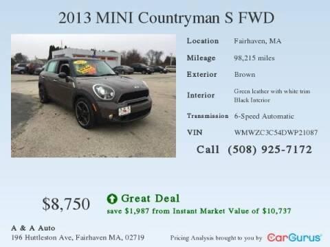 2013 MINI Countryman for sale at A&A AUTO in Fairhaven MA