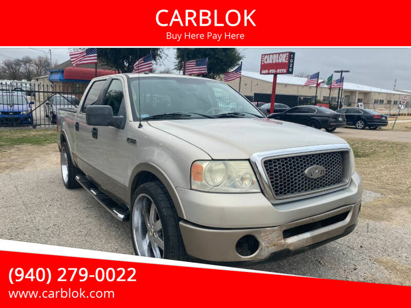 2006 Ford F-150 for sale at CARBLOK in Lewisville TX