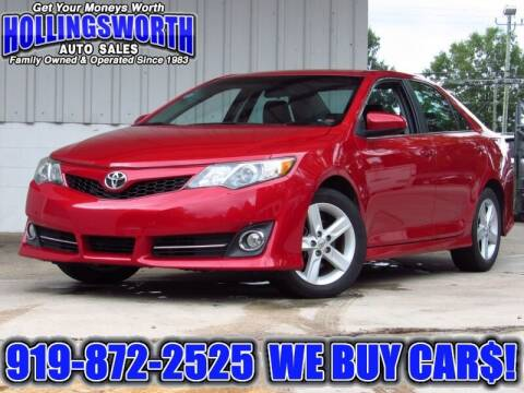 2012 Toyota Camry for sale at Hollingsworth Auto Sales in Raleigh NC