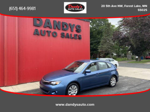 2010 Subaru Impreza for sale at Dandy's Auto Sales in Forest Lake MN