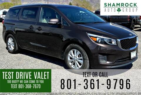 2017 Kia Sedona for sale at Shamrock Group LLC #1 in Pleasant Grove UT