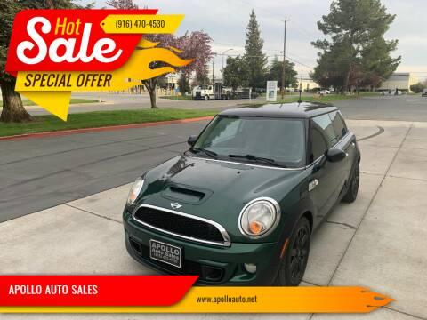2011 MINI Cooper for sale at APOLLO AUTO SALES in Sacramento CA