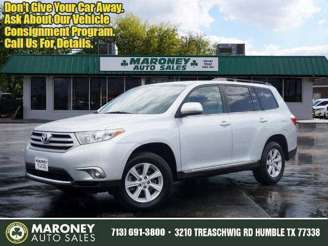 2013 Toyota Highlander for sale at Maroney Auto Sales in Humble TX