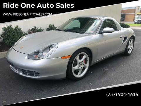 2000 Porsche Boxster for sale at Ride One Auto Sales in Norfolk VA