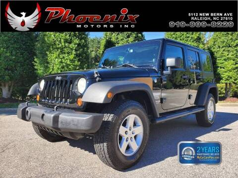 2013 Jeep Wrangler Unlimited for sale at Phoenix Motors Inc in Raleigh NC