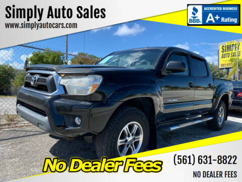 2012 Toyota Tacoma for sale at Simply Auto Sales in Palm Beach Gardens FL