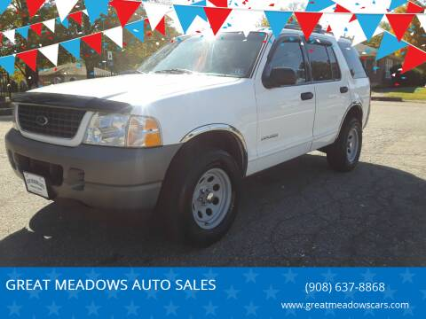 2002 Ford Explorer for sale at GREAT MEADOWS AUTO SALES in Great Meadows NJ