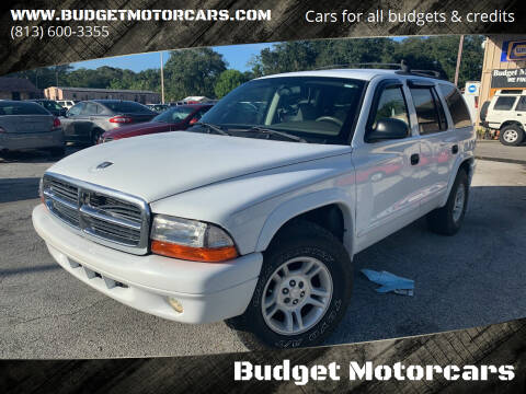 2002 Dodge Durango for sale at Budget Motorcars in Tampa FL