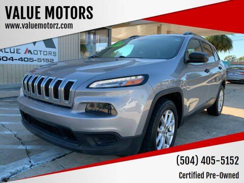 2016 Jeep Cherokee for sale at VALUE MOTORS in Kenner LA