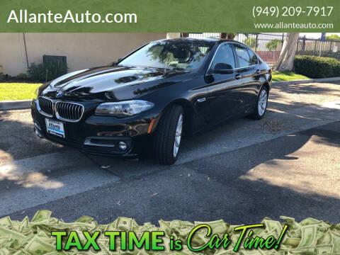2015 BMW 5 Series for sale at AllanteAuto.com in Santa Ana CA