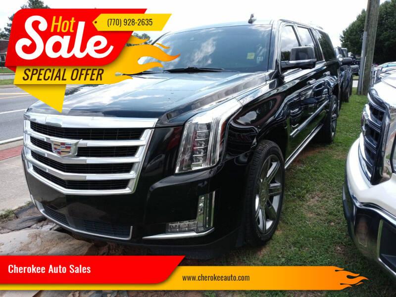 2017 Cadillac Escalade ESV for sale at Cherokee Auto Sales in Acworth GA