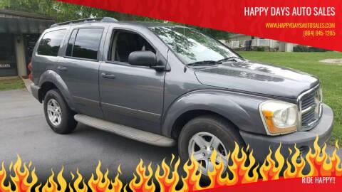 2004 Dodge Durango for sale at Happy Days Auto Sales in Piedmont SC
