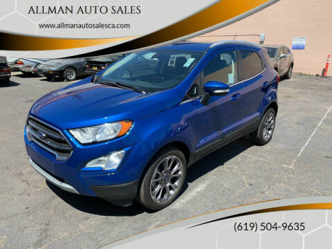 2019 Ford EcoSport for sale at ALLMAN AUTO SALES in San Diego CA