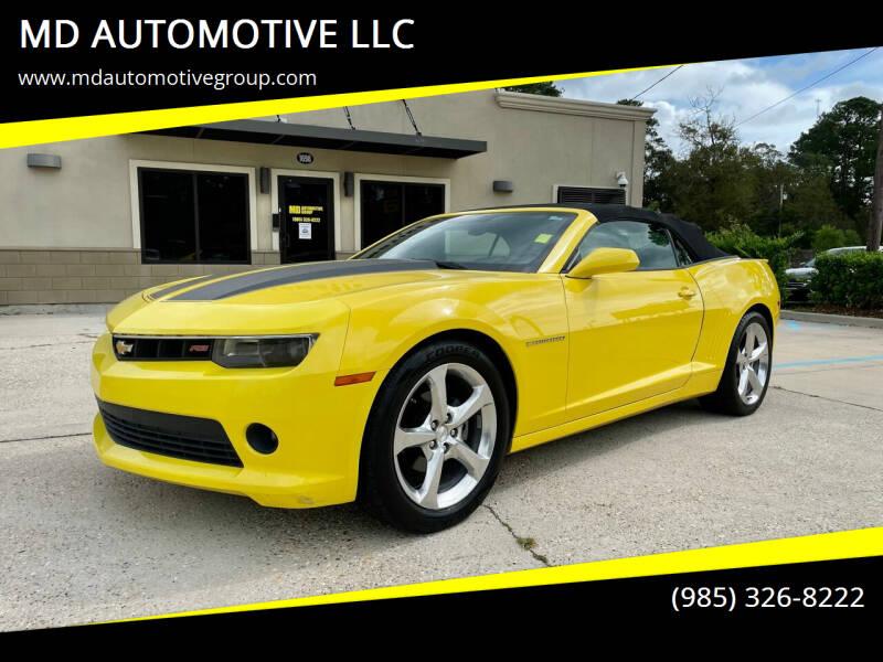 2014 Chevrolet Camaro for sale at MD AUTOMOTIVE LLC in Slidell LA