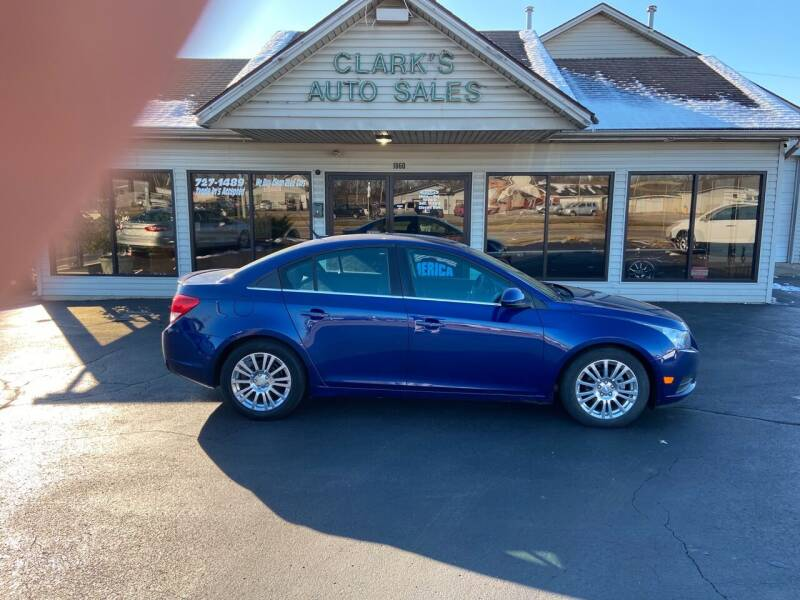 2013 Chevrolet Cruze for sale at Clarks Auto Sales in Middletown OH