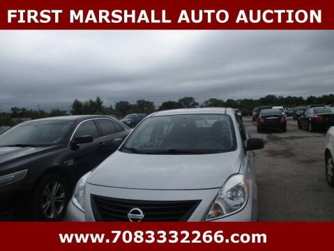 2013 Nissan Versa for sale at First Marshall Auto Auction in Harvey IL