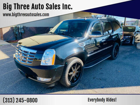 2012 Cadillac Escalade for sale at Big Three Auto Sales Inc. in Detroit MI