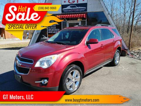 2012 Chevrolet Equinox for sale at GT Motors, LLC in Elkin NC