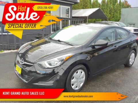 2016 Hyundai Elantra for sale at KENT GRAND AUTO SALES LLC in Kent WA