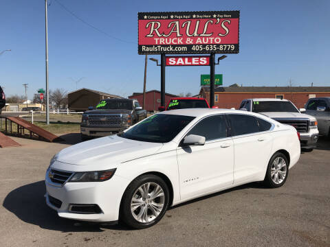 2014 Chevrolet Impala for sale at RAUL'S TRUCK & AUTO SALES, INC in Oklahoma City OK