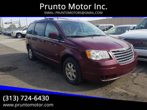 2008 Chrysler Town and Country for sale at Prunto Motor Inc. in Dearborn MI