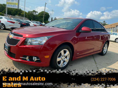 2012 Chevrolet Cruze for sale at E and M Auto Sales in East Dundee IL