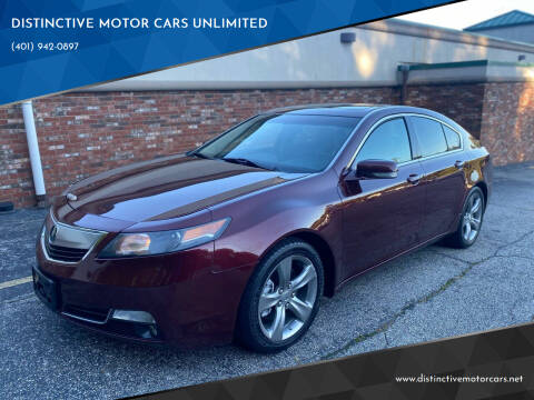 2012 Acura TL for sale at DISTINCTIVE MOTOR CARS UNLIMITED in Johnston RI