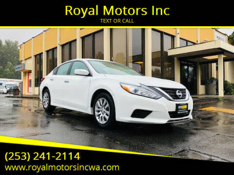 2016 Nissan Altima for sale at Royal Motors Inc in Kent WA