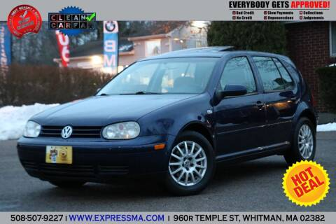 2004 Volkswagen Golf for sale at Auto Sales Express in Whitman MA