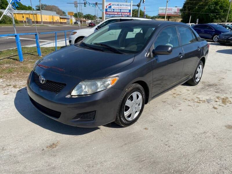 2009 Toyota Corolla for sale at SKYLINE AUTO SALES LLC in Winter Haven FL