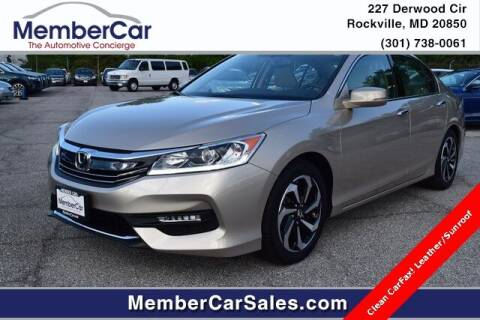 2017 Honda Accord for sale at MemberCar in Rockville MD