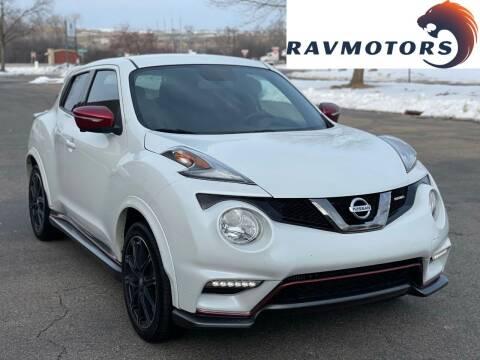 2017 Nissan JUKE for sale at RAVMOTORS in Burnsville MN