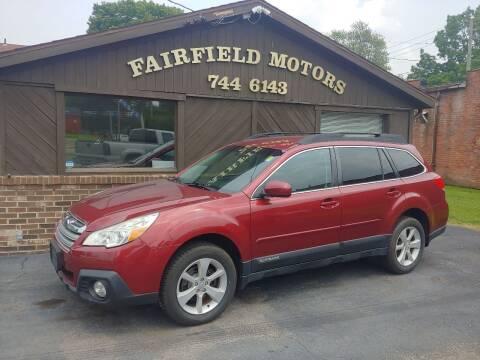 2013 Subaru Outback for sale at Fairfield Motors in Fort Wayne IN