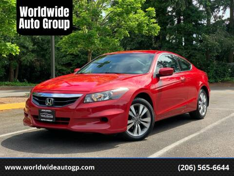 2012 Honda Accord for sale at Worldwide Auto Group in Auburn WA