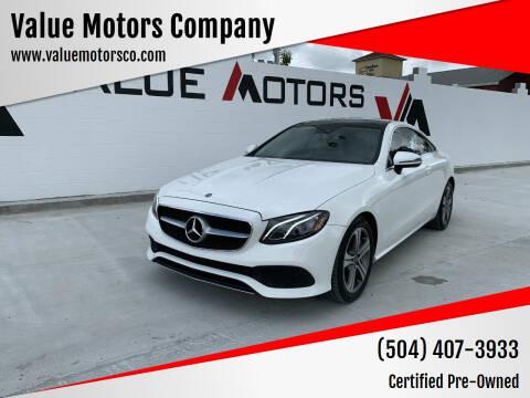 2018 Mercedes-Benz E-Class for sale at Value Motors Company in Marrero LA