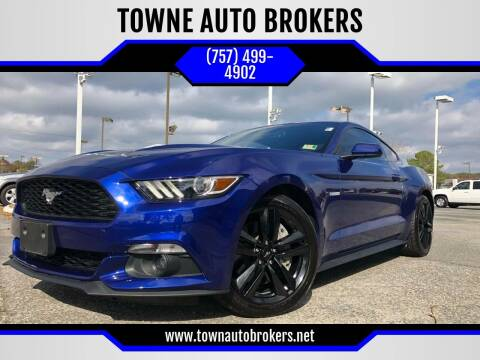 2016 Ford Mustang for sale at TOWNE AUTO BROKERS in Virginia Beach VA