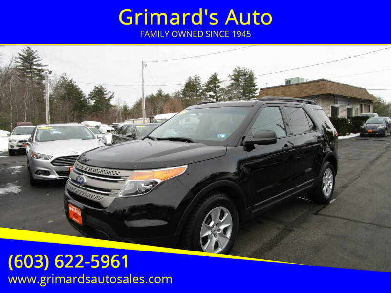 2012 Ford Explorer for sale at Grimard's Auto in Hooksett, NH