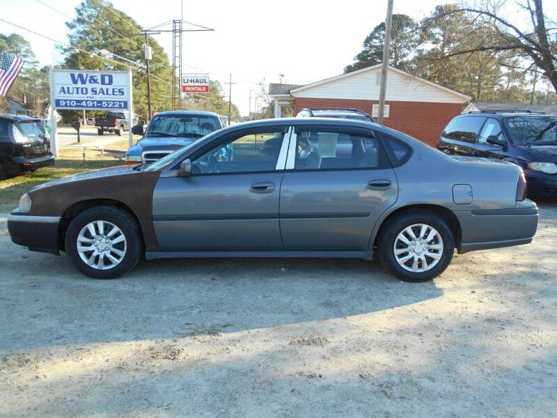 2005 Chevrolet Impala for sale at W & D Auto Sales in Fayetteville NC